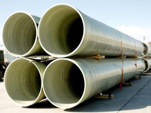 Стеклопластик также используется в производстве труб